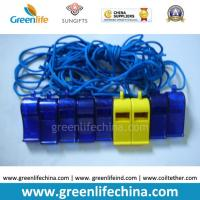 Wholesale Blue Dark ABS Material Wholesale Whistle for Promotional Usage with Strap Lanyard from china suppliers