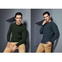 China Round Neck Cable Knitted Made To Measure Sweaters Cashmere Knitwear S ~ 4XL For Men on sale