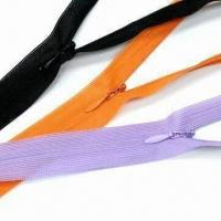 Quality Invisible Zippers with Water Drop Slider, Available in 600 Different Colors for sale