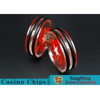 China Transparent Texas Holdem Dedicated Dealer Button Two Side For Poker Table Games on sale