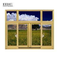 Wholesale Champagne Aluminium Section Sliding Window / Office Aluminium Sash Windows from china suppliers