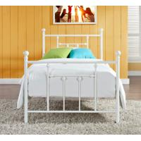 Quality Victorian Elegant Full Size Metal Beds , White Wrought Iron Bed Frame for sale