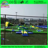 Quality Guangzhou Qinda Water Park Games Projects / Inflatable Aqua Park Equipment With TUV Certification for sale