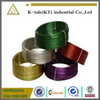 Wholesale Black Pvc Coated Stainless Steel Wire Rope , Loop Tie Wire from china suppliers