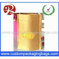 Wholesale Popular Kraft Paper Plastic Ziplock Bags With Ground Transparent Window from china suppliers