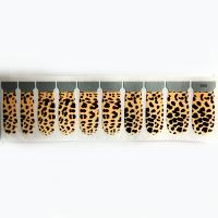 Wholesale Gold leopard Finger Nail Stickers , PET Coating / paper material nail stripes from china suppliers