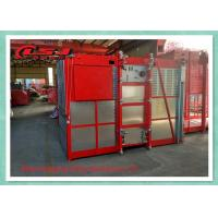 Quality 1 Ton Capacity Double Cage Construction Elevator Safety For Passenger And Material for sale