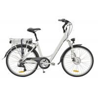 Wholesale Womens 26 Inch Electric City Bicycle With Lithium Battery On Rear Rack from china suppliers