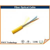 Wholesale Plenum Tight Buffer Fiber Optical Armored Singlemode 4 Core Strand Wire Cable from china suppliers