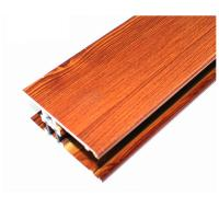 Buy cheap Square Wood Finish Aluminium Profiles , Different Colors Aluminium Framing Systems from wholesalers