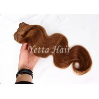 Wholesale Long Lasting Golden Blonde Hair Extensions / Natural Human Hair Weave With Bouncy from china suppliers