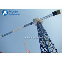 Quality 5 Ton Climbing Flattop Tower Crane QTP50 5010 Hydraulic Cylinder Lifting Hook for sale