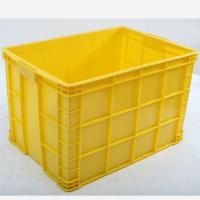 Wholesale Offer HDPE Stackable Solid Plastic Crate, Crate with Bottom Drainage Holes from china suppliers
