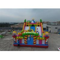 Wholesale Double Stitching PVC Tarpaulin Inflatable Slide Fun City Inflatable Bouncing Castle from china suppliers