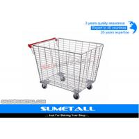 Wholesale Medium Duty Wire Steel Supermarket Metal Storage Cage With Wheels For Retailers from china suppliers