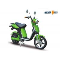 Wholesale Adult Ladies Electric Motorcycle With Pedals , Girls Electric Moped Scooter F/ R Drum Brake from china suppliers