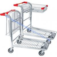 Wholesale Reinforced Folding Warehouse Transport Trolley Two Level with Baskets from china suppliers