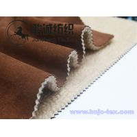 Quality Thick and warm micro suede fabric with lamb wool back for overcoat and jaket for sale