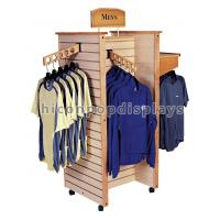 Wholesale Wooden Slatwall Clothing Store Fixtures and Displays Flooring from china suppliers