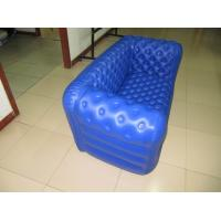 Quality Double Seat Blue Inflatable Sofa Chair PVC For Party Room for sale