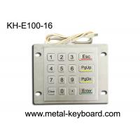 Wholesale Weatherproof Metal Keypad with Top Panel Mounting , 16 button ATM keypad from china suppliers