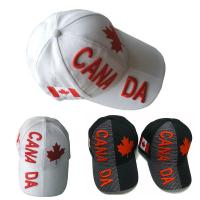 Wholesale Canada White / Black 3d Embroidery Baseball Cap / Outdoor Custom Ball Cap from china suppliers