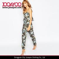 Wholesale Floral Romper Women Strap V-neck Floral Print Relaxed Fit Jumpsuit 2016 from china suppliers