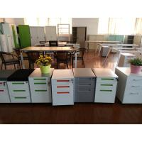 Mobile pedestal cabinet  FYD-H001 with cushion,white color/3 section slideway,drawer fully open,Non knocked down