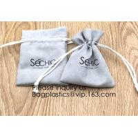 China Handmade Velvet Long Drawstring Jewelry Pouches Bag Gift,Suede Fabric Drawstring Bag Jewelry Bag Gift Bag Small Mini Car on sale