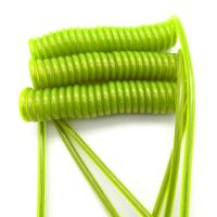 Buy cheap Transparent Green PU Coating Steel Wire Lanyard Safety Tool Lanyards from wholesalers