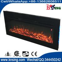 "Wholesale insert fireplace 40"" bulit in fireplace half recessed with 7 colors back lights real coal flame burning from china suppliers"