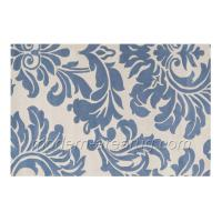 Buy cheap Grey Blue Beige Flower Pattern Wool Area Rug Carpet, Custom Design Wool Carpets Rugs from wholesalers