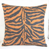 Wholesale zebra stripe Linen Throw Pillows / plaid Decorative Throw Pillows from china suppliers