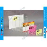 Buy cheap Countertop Clear Acrylic Display Stands / Sign Holder for Shop Display from wholesalers
