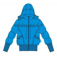 Buy cheap Sky Blue Girls Warm Coat With Hood Boutique Childrens Clothing from wholesalers