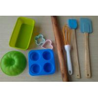 Buy cheap Eco Heart Resist Silicone Baking Set , 11pcs Recycled Non Stick Bakeware Sets from wholesalers