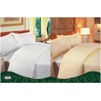 Wholesale White / Yellow Personalized 100 % Cotton Full Size Solid Color Dyed Hotel Bed Linen Sets from china suppliers