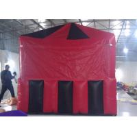 Wholesale Red / Black Small Cube Shaped Inflatable Air Tent For Wedding Or Exhibition PVC Tarpaulin from china suppliers