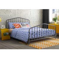 Quality Modern Grey Full Size Metal Beds Wrought Iron California King Size Bed Frame for sale