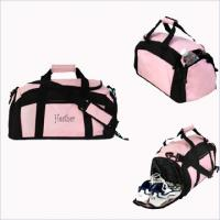 Wholesale Pink / Black Portable Ladies 600d Polyester Fabric Gym Customized Sports Bag For Hiking from china suppliers
