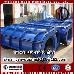 concrete pipe casting machine of semi-automatic with roller spun machine