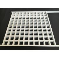 Wholesale Aluminum Square Lattice Grille Suspended Ceiling in white from china suppliers