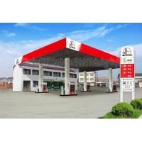 Quality AISI ASTM Steel Building Trusses Prefabricated Gas Station Structure for sale