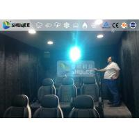 Wholesale 9 Persons 7D Movie Theater With Special Effect System , Thrilling Drastic Movement Of Chair from china suppliers