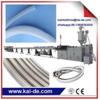 Wholesale Stainless steel wire Flexible PEX braided plumbing hose extrusion line/ shower hose making machine from china suppliers