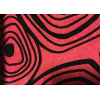 Wholesale Sofa Velvet Red Flocked Fabric Comfortable With Geometric Designs from china suppliers