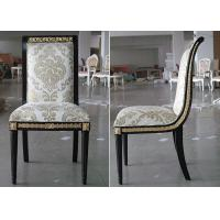 Wholesale Gold - Leaf Style Modern Dining Room Chairs , Cream Fabric Sofa Seat Chairs from china suppliers
