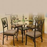 Wholesale Dining Set with Handcraft Paint, Toughened Glass and Foam Cushion from china suppliers