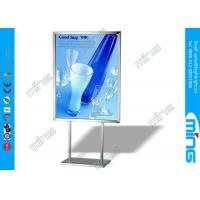 Wholesale Universal Double Sided Floor Stand Sign Holder Stainless Steel Poster Stand from china suppliers