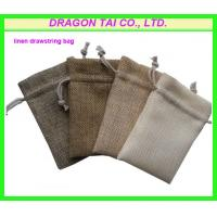 Wholesale Linen drawstring bag , linen gift bag , string linen bag, linen draw string bag from china suppliers